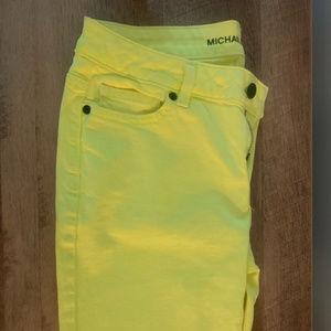 Michael Kors Skinny Neon Yellow Jeans